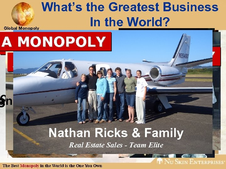 Global Monopoly What's the Greatest Business In the World? A MONOPOLY A MONOPOLY A