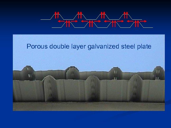 Porous double layer galvanized steel plate