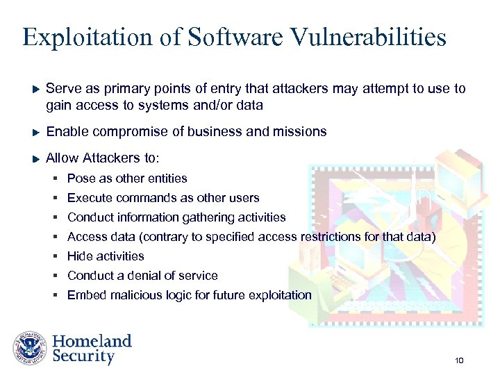 Exploitation of Software Vulnerabilities Serve as primary points of entry that attackers may attempt