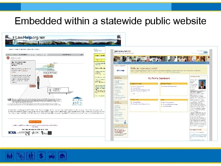 Embedded within a statewide public website
