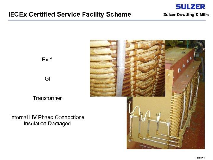 IECEx Certified Service Facility Scheme Sulzer Dowding & Mills Ex d GI Transformer Internal