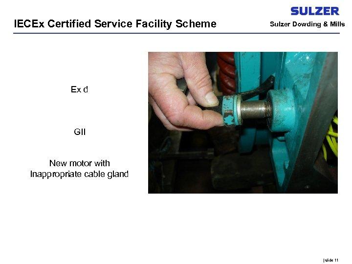 IECEx Certified Service Facility Scheme Sulzer Dowding & Mills Ex d GII New motor