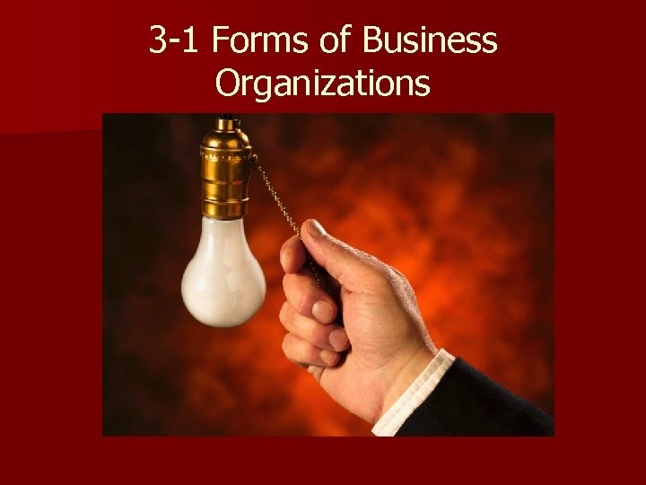 3 -1 Forms of Business Organizations