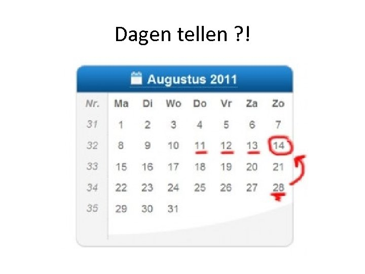 Dagen tellen ? !