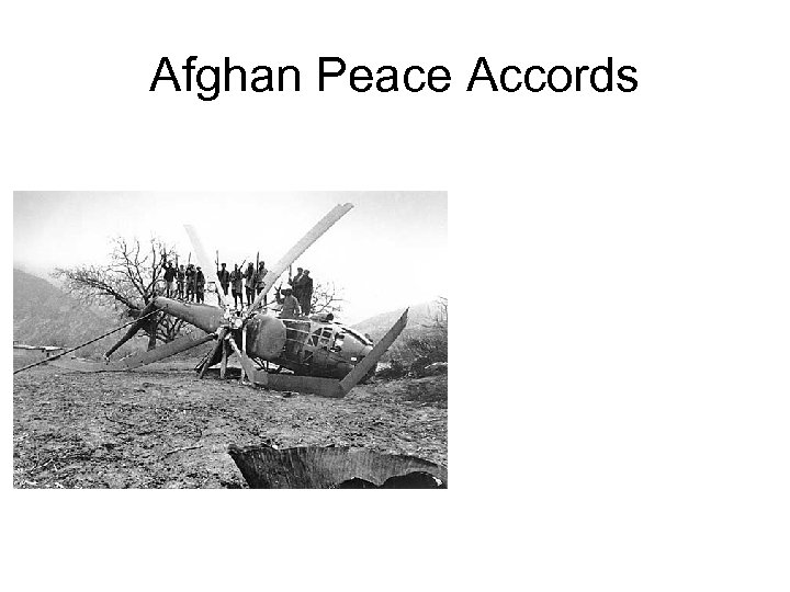 Afghan Peace Accords