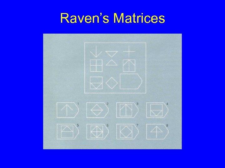 Raven's Matrices