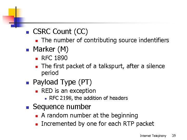 n CSRC Count (CC) n n Marker (M) n n n The number of
