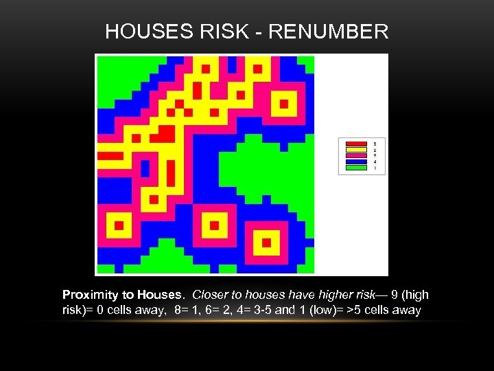 HOUSES RISK - RENUMBER Proximity to Houses. Closer to houses have higher risk— 9