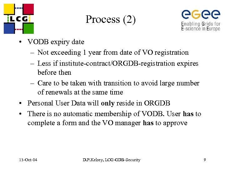 Process (2) • VODB expiry date – Not exceeding 1 year from date of