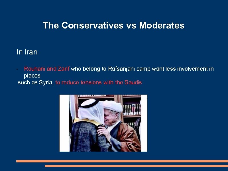 The Conservatives vs Moderates In Iran - Rouhani and Zarif who belong to Rafsanjani