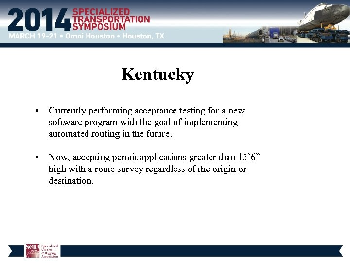 Kentucky • Currently performing acceptance testing for a new software program with the goal