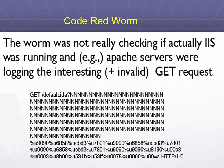 Code Red Worm 89