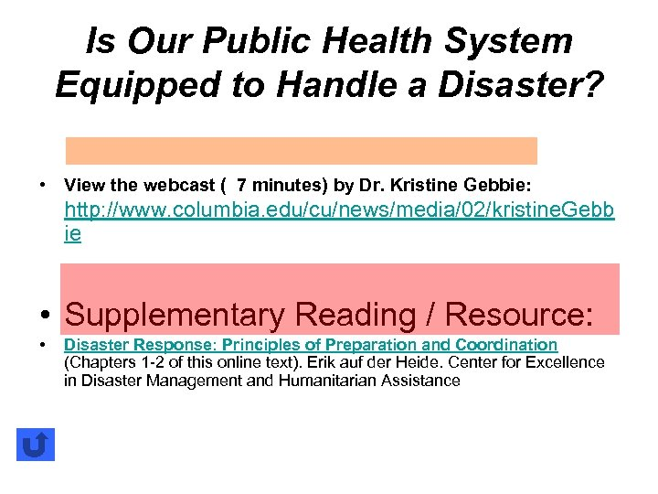 Is Our Public Health System Equipped to Handle a Disaster? • View the webcast