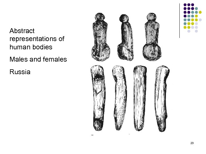 Abstract representations of human bodies Males and females Russia 23