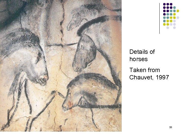 Details of horses Taken from Chauvet, 1997 33
