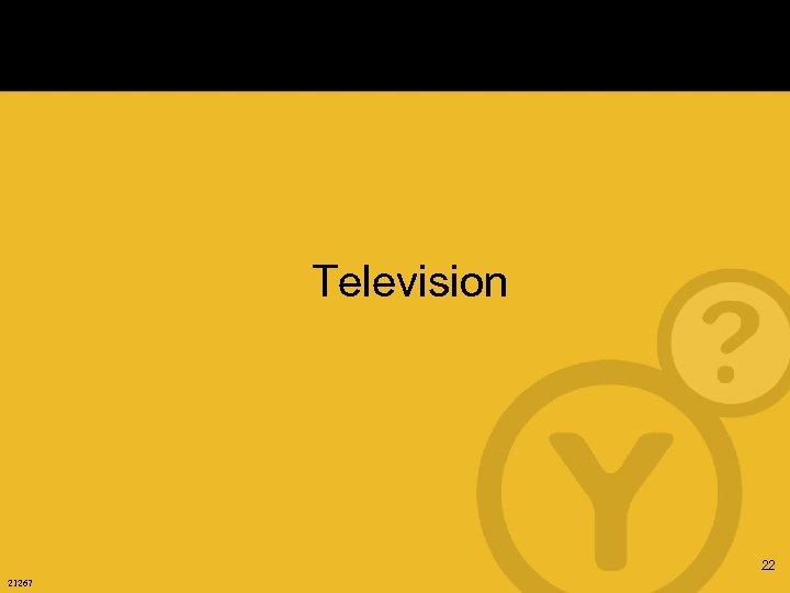 Television 22 21267