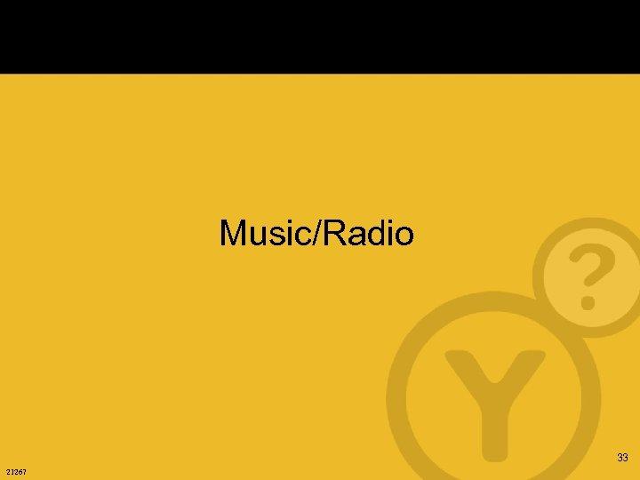 Music/Radio 33 21267