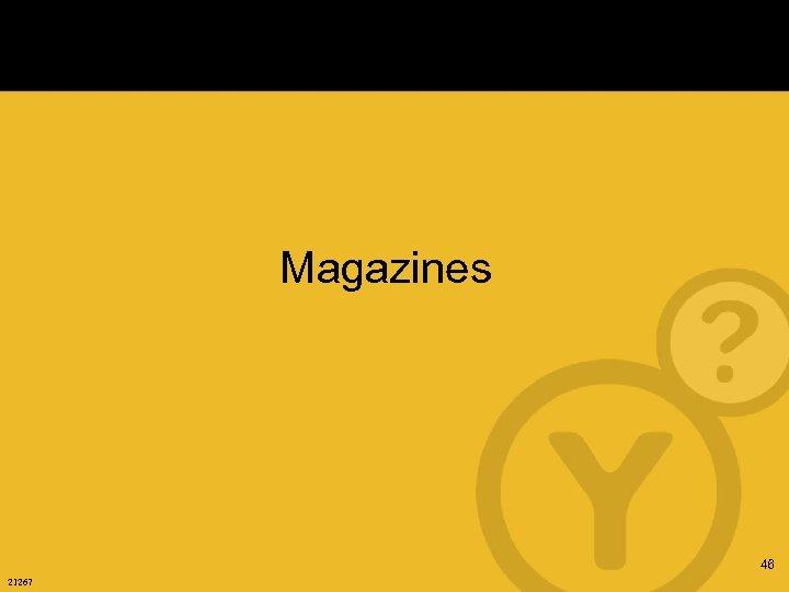 Magazines 46 21267