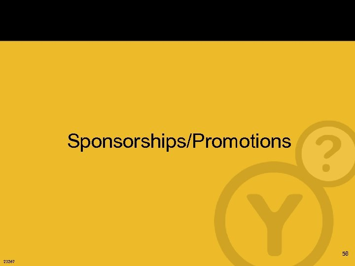 Sponsorships/Promotions 56 21267