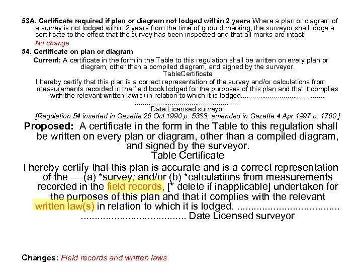 53 A. Certificate required if plan or diagram not lodged within 2 years Where