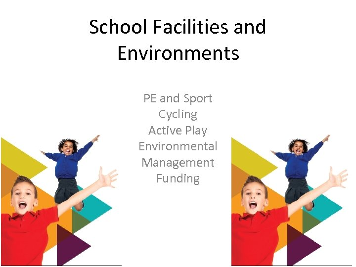 School Facilities and Environments PE and Sport Cycling Active Play Environmental Management Funding