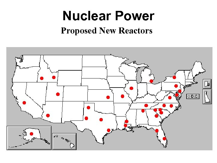 Nuclear Power Proposed New Reactors