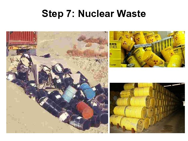 Step 7: Nuclear Waste