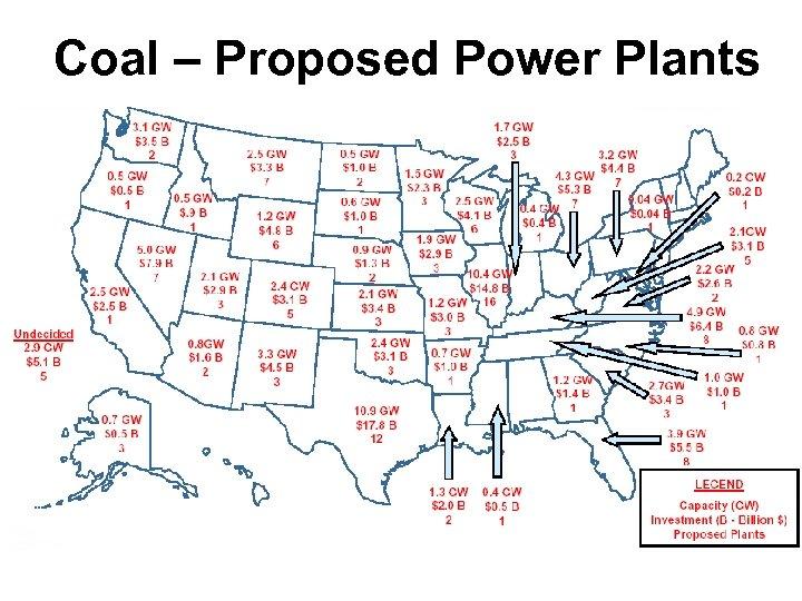 Coal – Proposed Power Plants
