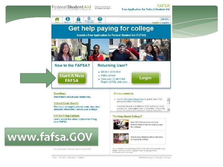 www. fafsa. GOV