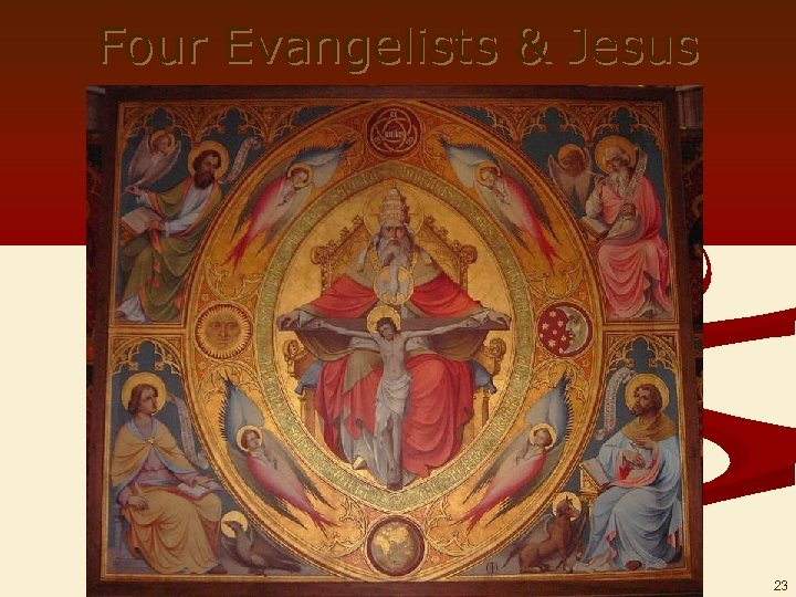 Four Evangelists & Jesus 23