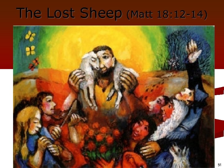 The Lost Sheep (Matt 18: 12 -14) 51