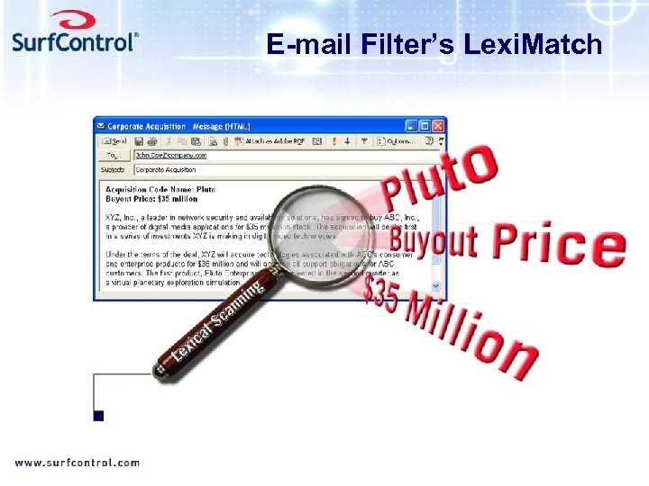 E-mail Filter's Lexi. Match
