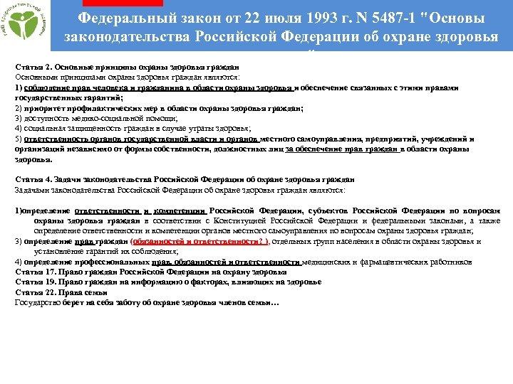 Федеральный закон от 22 июля 1993 г. N 5487 -1