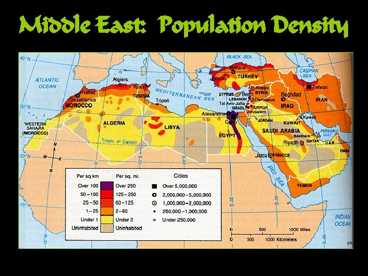 Middle East: Population Density