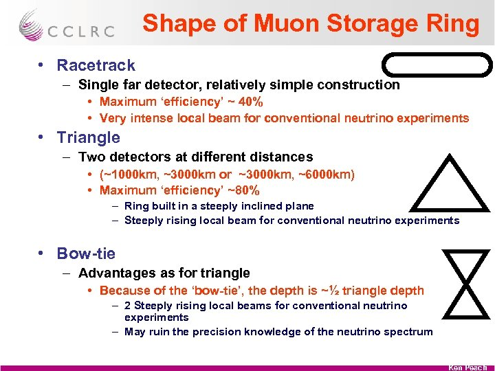 Shape of Muon Storage Ring • Racetrack – Single far detector, relatively simple construction