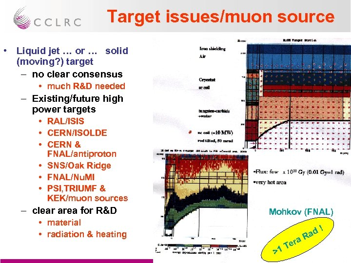 Target issues/muon source • Liquid jet … or … solid (moving? ) target –