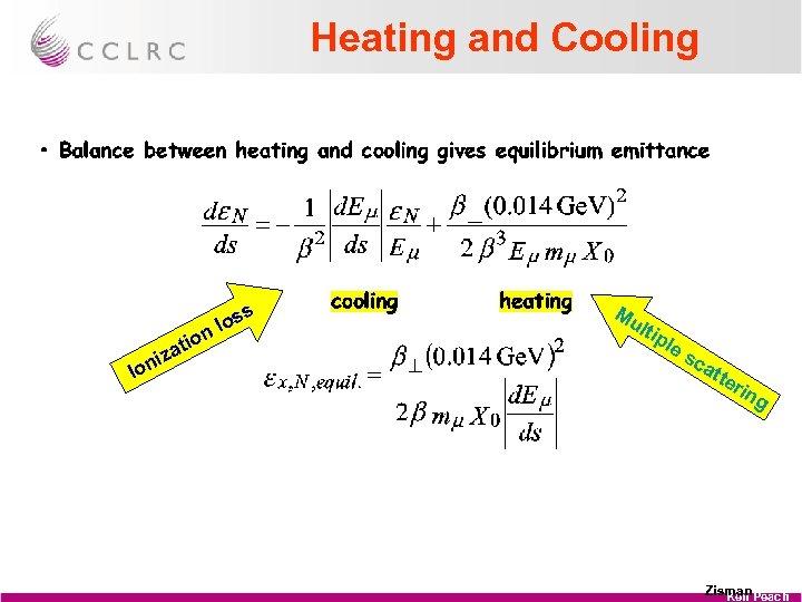 Heating and Cooling tio s los n Io a niz Mu ltip le sc