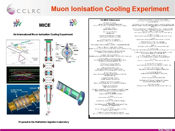 Muon Ionisation Cooling Experiment Ken Peach
