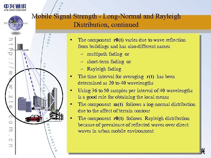 Mobile Signal Strength - Long-Normal and Rayleigh Distribution, continued • • • The component