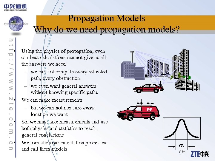 Propagation Models Why do we need propagation models? • • Using the physics of