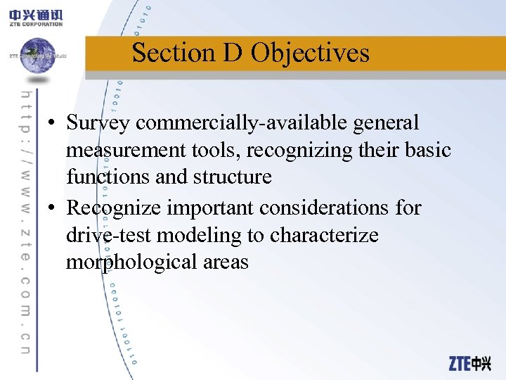 Section D Objectives • Survey commercially-available general measurement tools, recognizing their basic functions and