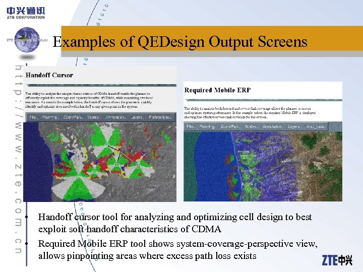 Examples of QEDesign Output Screens • Handoff cursor tool for analyzing and optimizing cell