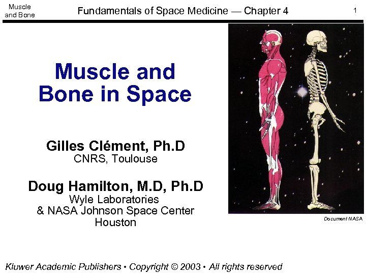 Muscle and Bone Fundamentals of Space Medicine — Chapter 4 1 Muscle and Bone