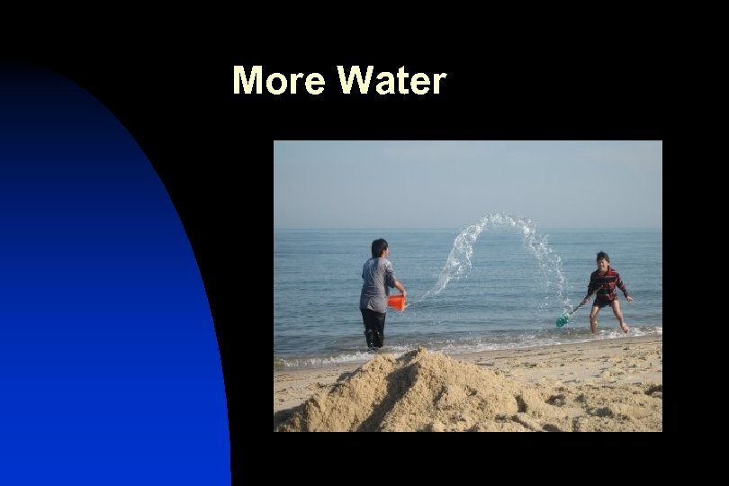 More Water