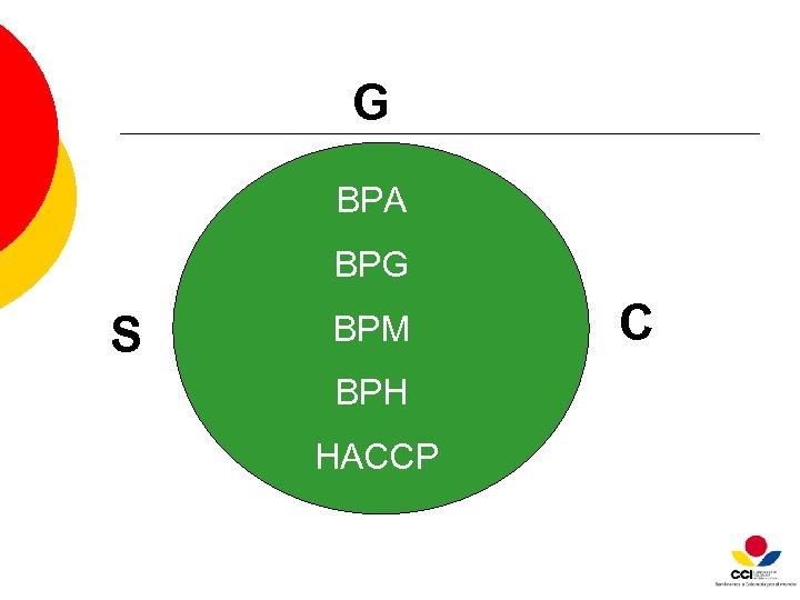 G BPA BPG S BPM BPH HACCP C