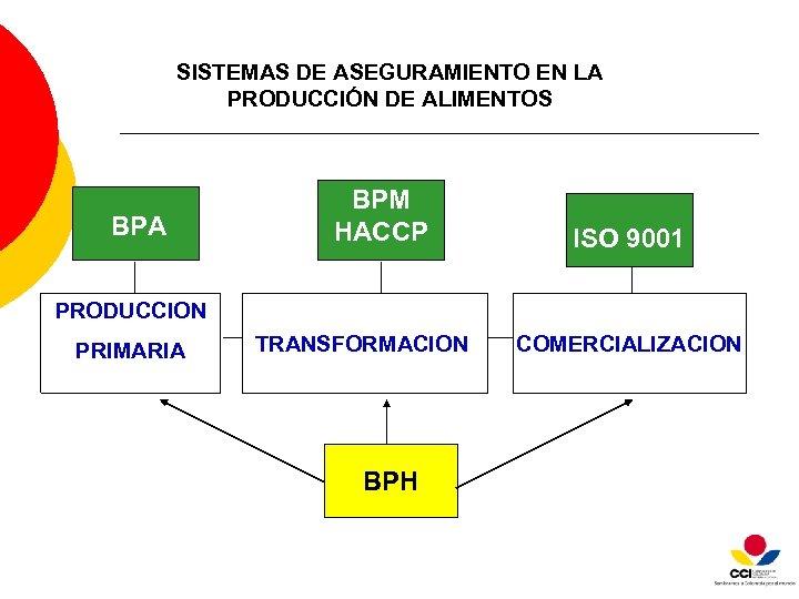 SISTEMAS DE ASEGURAMIENTO EN LA PRODUCCIÓN DE ALIMENTOS BPA BPM HACCP ISO 9001 PRODUCCION