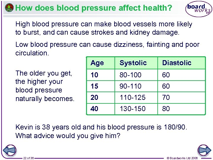 How does blood pressure affect health? High blood pressure can make blood vessels more