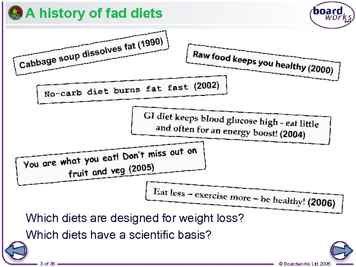 A history of fad diets Which diets are designed for weight loss? Which diets