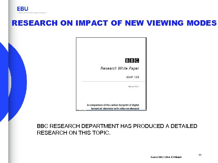 RESEARCH ON IMPACT OF NEW VIEWING MODES BBC RESEARCH DEPARTMENT HAS PRODUCED A DETAILED