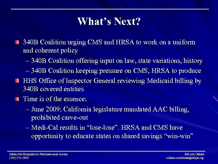 What's Next? 340 B Coalition urging CMS and HRSA to work on a uniform